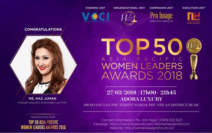 CEO of Schinder Law Firm – Naz Juman – Brave Female Leader of Indonesian Lawyers