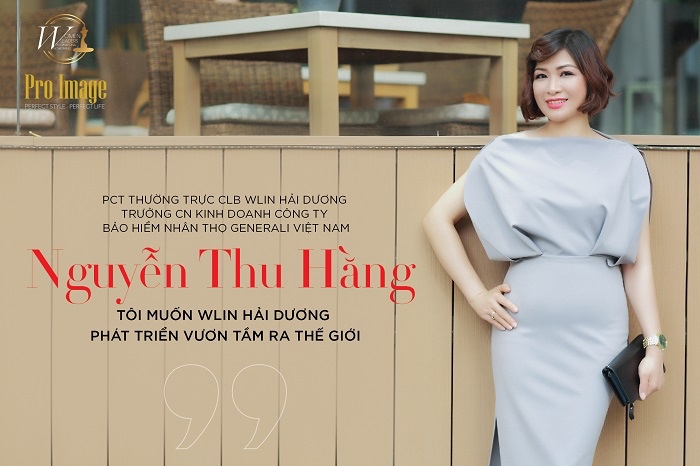 "Ms Nguyen Thu Hang – Vice President of  WLIN Hai Duong Club ""My ambition is to expand WLIN Hai Duong to the entire world"""