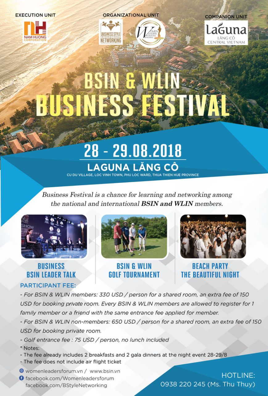 "Laguna Lăng Cô – The co-host of the ""BSIN & WLIN Business Festival"""